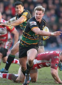 Tom Stephenson in action for Northampton Saints