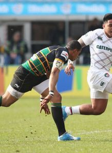 manu tuilagi luther burrell northampton saints leicester tigers