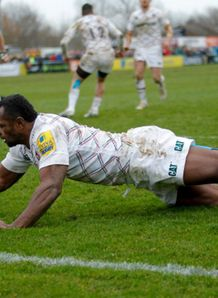 niki goneva scores for leicester tigers against newcastle falcons march 2014