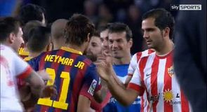Lacklustre Barca thump Almeria