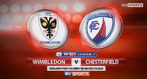 AFC Wimbledon 1-1 Chesterfield