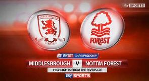 Middlesbrough 1-1 Nottingham Forest