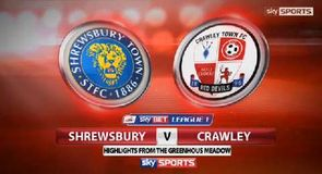Shrewsbury 1-1 Crawley