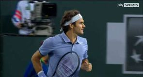 Federer cruises through