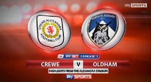 Crewe Alexandra 1-1 Oldham Athletic