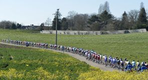 The peloton got off to a nervous start in France as the eight-day stage race kicked off