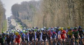 The peloton were tightly packed on day three of the race