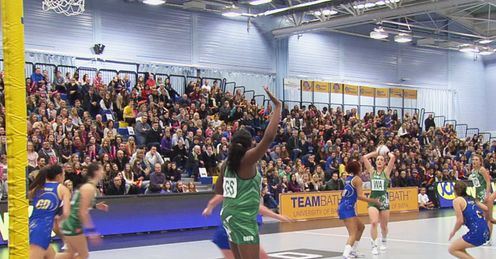 Kyra Jones: mastered the long ball in to the Celtic Dragons GS.