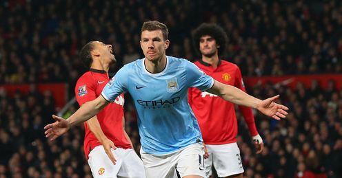 Dzeko: Linked up nicely with David Silva at Old Trafford, says Jamie