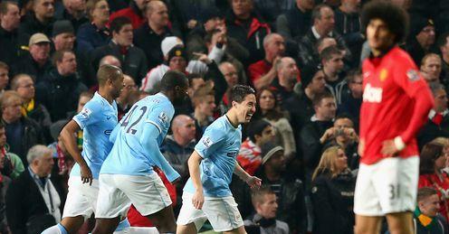 Fellaini: summer signing looks on as City celebrate