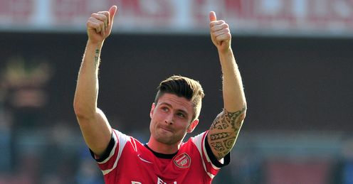 Olivier Giroud: must start as one of two up front for Gunners, says Merse