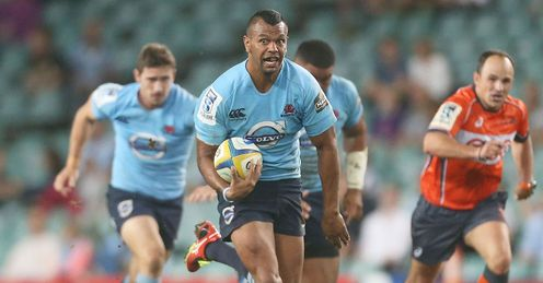 Waratahs centre Kurtley Beale in the clear