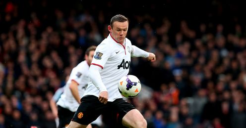 Rooney: shoots from distance with spectacular results