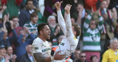 LEICESTER TIGERS CELEBRATE SAINTS