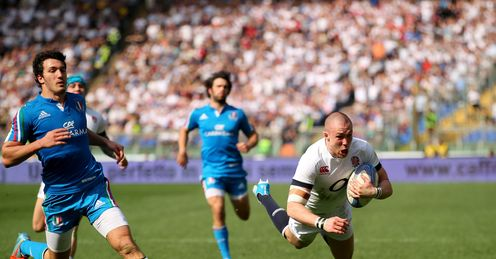 Mike Brown England Stadio Olimpico Rome Six Nations Rugby union