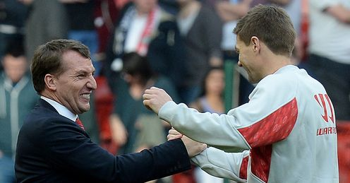 Rodgers and Gerrard: Have driven Liverpool to the top of the Premier League