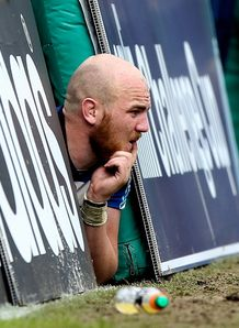An injured Matt Garvey watching Bath