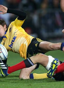 Beauden Barrett brought to ground for Hurricanes