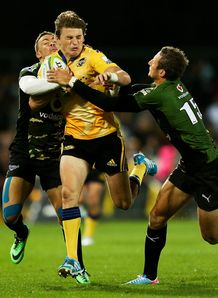 Beauden Barrett of the Hurricanes v Bulls 2014