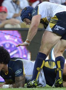 Brumbies wing Joe Tomane crossing for a try