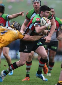 Harlequins centre Tom Casson in action