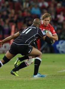 Lions full back Andries Coetzee against the Sharks
