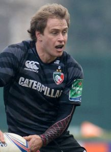 Mathew Tait looking to pass for Leicester Tigers