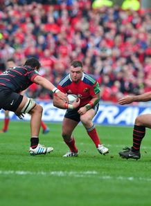 Munster prop Dave Kilcoyne on a run in Heineken Cup quarter final