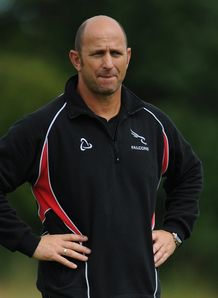 Newcastle Falcons head coach Peter Russell