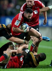 Ryan Crotty Crusaders v Chiefs Super Rugby 2014