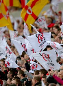 Ulster fans at Ravenhill in Heineken Cup