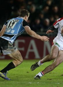 Ulster full back Ricky Andrew in action