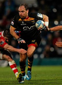 Wasps fly half Andy Goode on a run in Amlin Challenge Cup