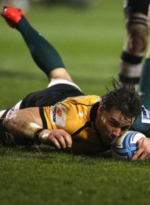 ben foden scores for northampton saints v sale sharks challenge cup 2014
