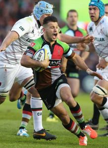 danny care scampers away harlequins v leicester 2014
