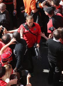 jonny wilkinson arrives toulon v leinster
