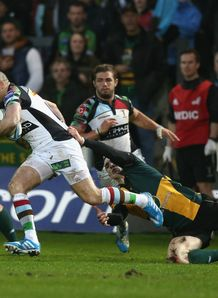 NORTHAMPTON SAINTS V HARLEQUINS MIKE BROWN