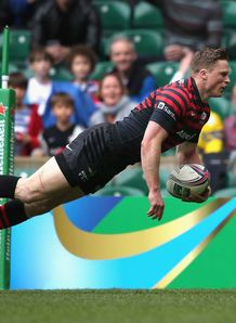 RUGBY UNION HEINEKEN CUP SARACENS CLERMONT AUVERGNE CHRIS ASHTON TRY