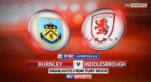 Burnley 0-1 Middlesbrough