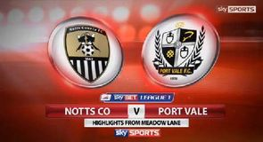Notts County 4-2 Port Vale