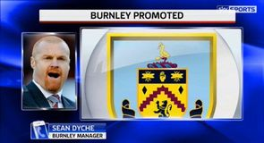 Dyche leads Burnley to the Premier League