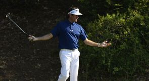 Bubba Watson didn't have it all his own way, but stayed top