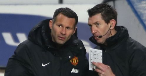 In charge: Ryan Giggs takes control at Old Trafford on Saturday