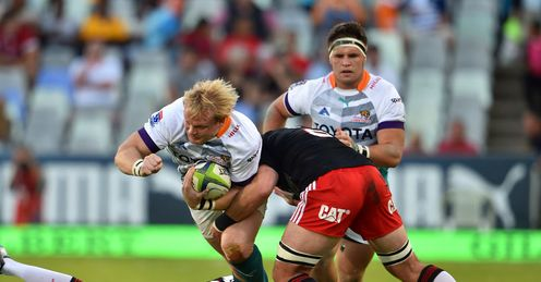 Cheetahs hooker Adriaan Strauss on a run against Crusaders