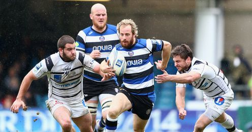 Nick Abendanon C of Bath bursts through