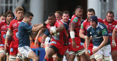Toulon number eight Steffon Armitage against Munster