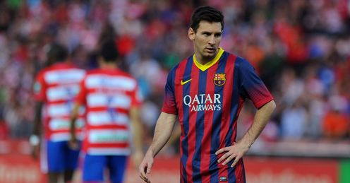 Lionel Messi: receiving fewer passes from his team-mates
