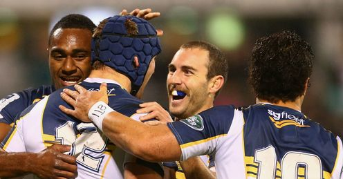 BRUMBIES CELEBRATE SUPER RUGBY