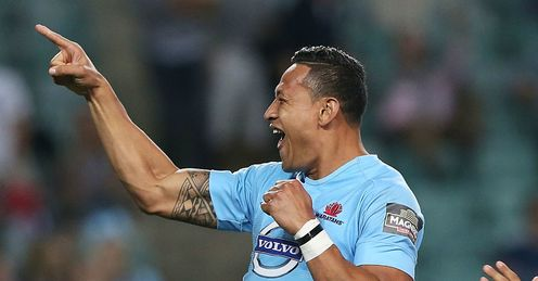 ISRAEL FOLAU WARATAHS TRY CELEBRATION