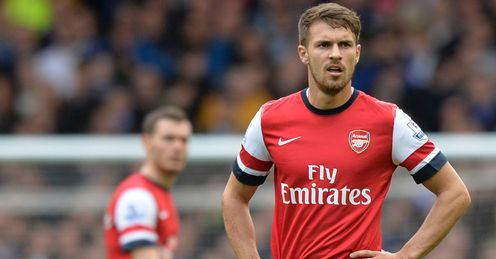 Aaron Ramsy's return from injury did not stop Arsenal going down to Everton